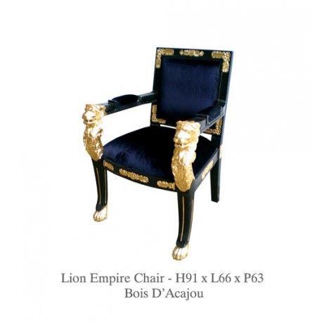 Www Deco Prive Com fauteuil de style velours noir modèle aigle http://www.deco-prive