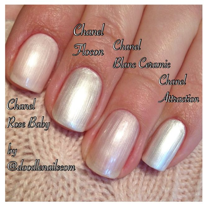 Chanel nail polish (compared): Chanel Atmosphere, Chanel Metal ...
