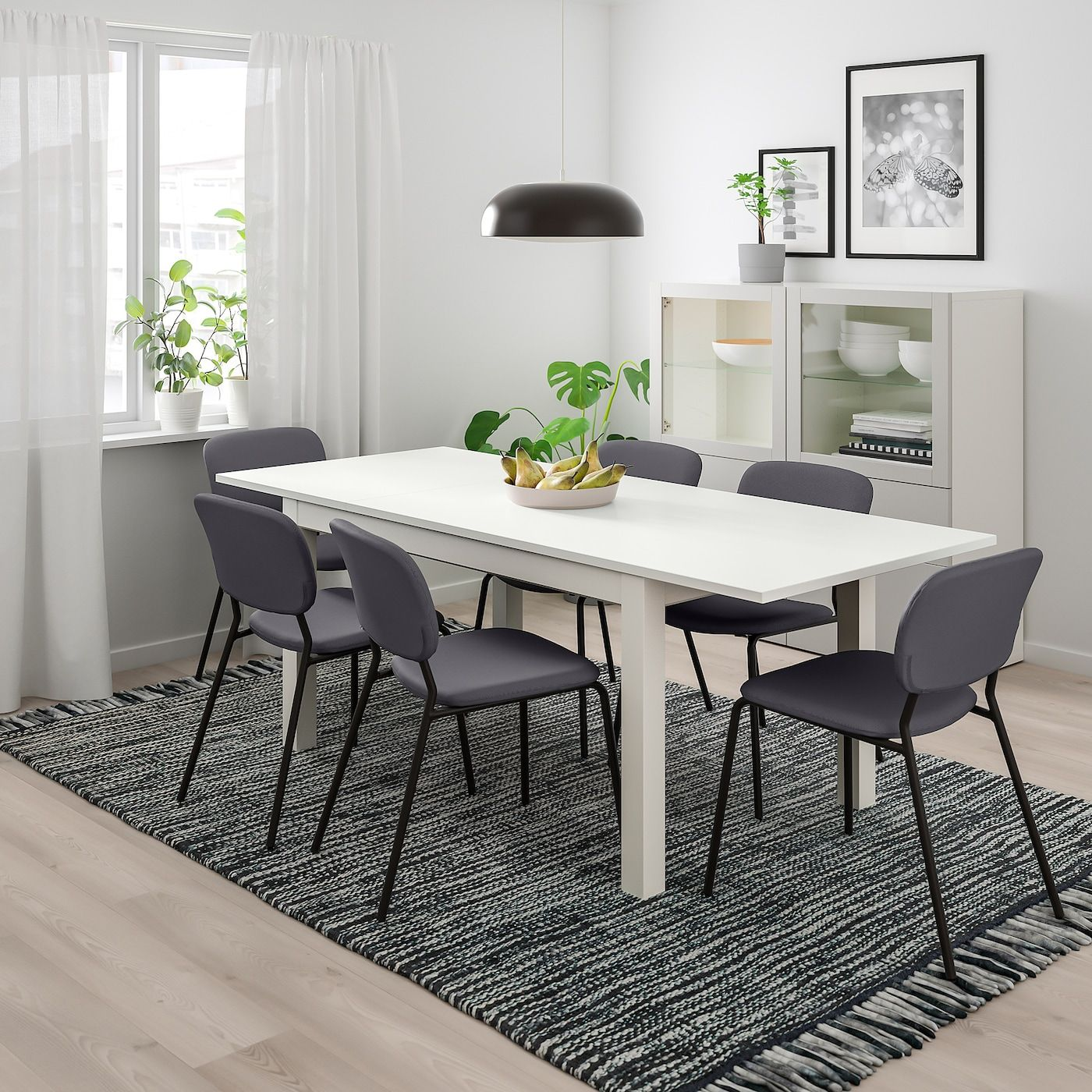 IKEA LANEBERG / KARLJAN White, Dark Gray Dark Gray Table