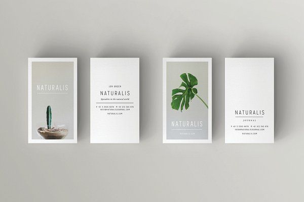 Naturalis Business Card Template By 46 2 Collective On