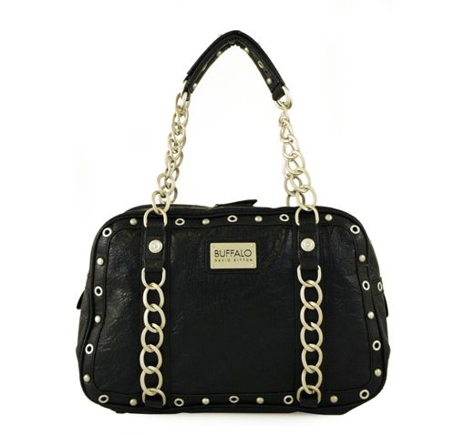 4/6/2012  Price: $29.99  + FREE SHIPPING Buffalo by David Bitton Chain Link Series Delores East-West Design Handbag in Black
