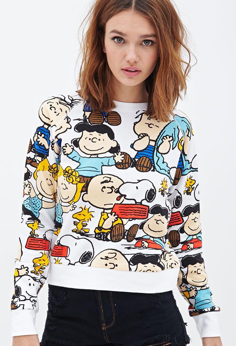 The Peanuts Sweatshirt Knit Sweatshirt Fashion Sweatshirts [ 1101 x 750 Pixel ]