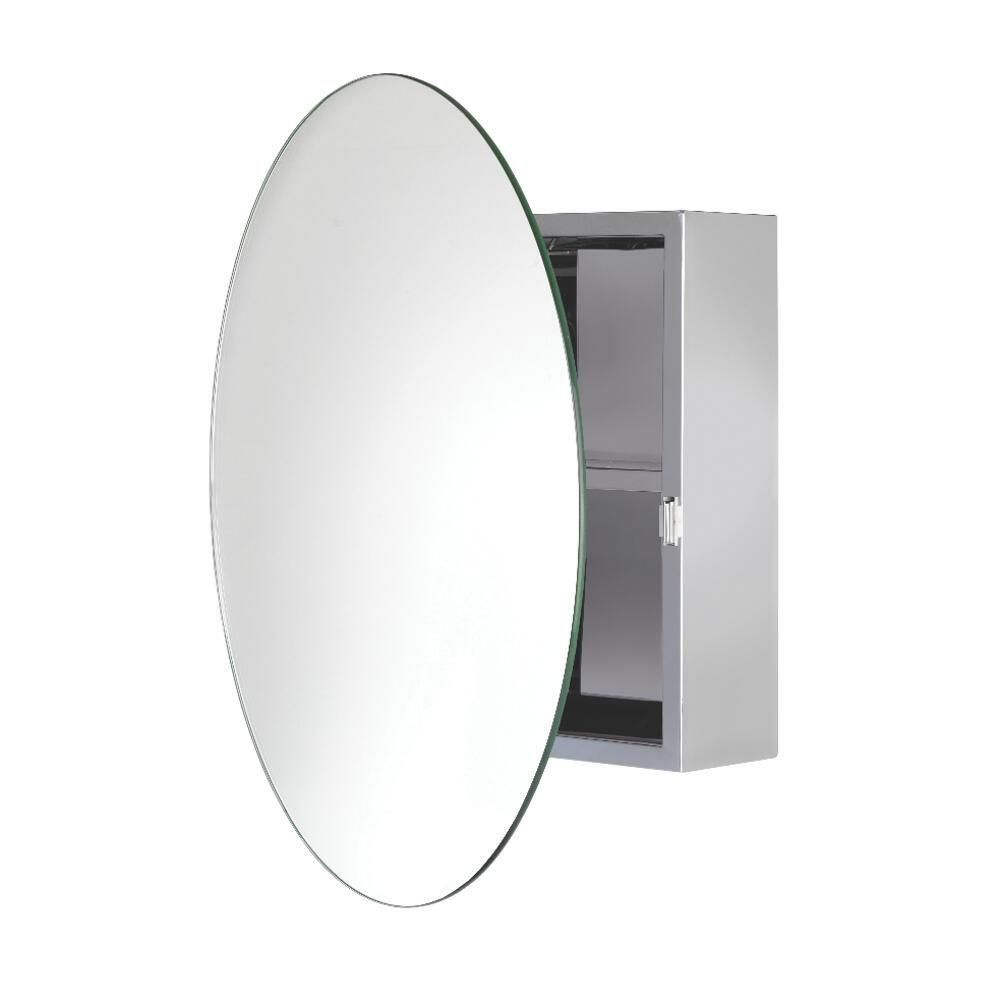 Severn Circular Mirrored Surface Mount Medicine Cabinet Round