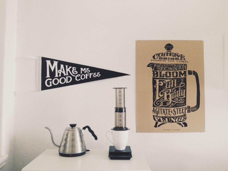 Make me Good Coffee Pennant Coffee lover, Coffee lover