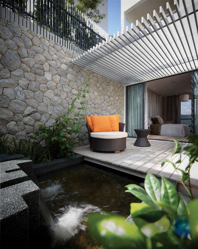 Master Bedroom Private Courtyard Yard Care Inspired