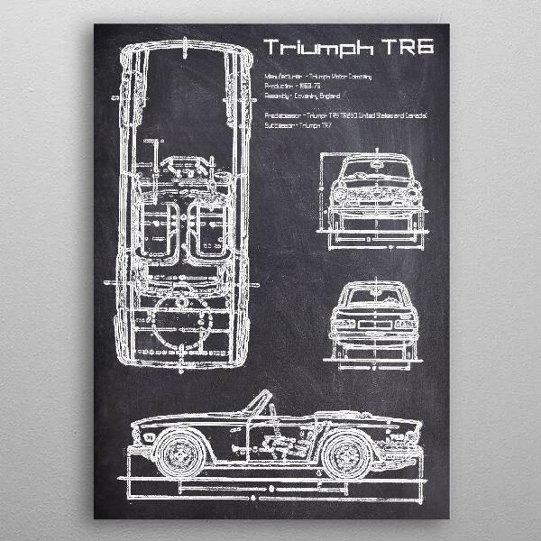 TRIUMP TR6 by FARKI15 DESIGN | metal posters - Displate | Displate thumbnail