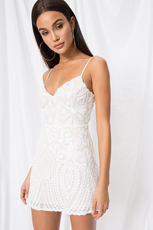 Superdown Bryanna Mini Dress | superdown -   16 white dress Short ideas