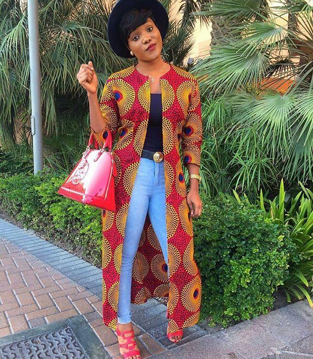 Le Manteau En Pagne Africain Fashion Wax Pinterest