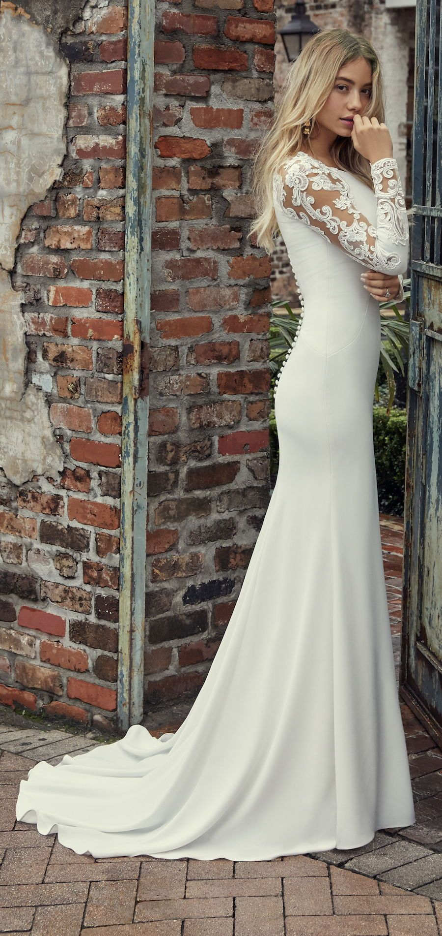 Bethany By Rebecca Ingram Wedding Dresses And Accessories Classy Wedding Dress Long Sleeve Mermaid Wedding Dress Sleek Wedding Dress [ 1902 x 900 Pixel ]