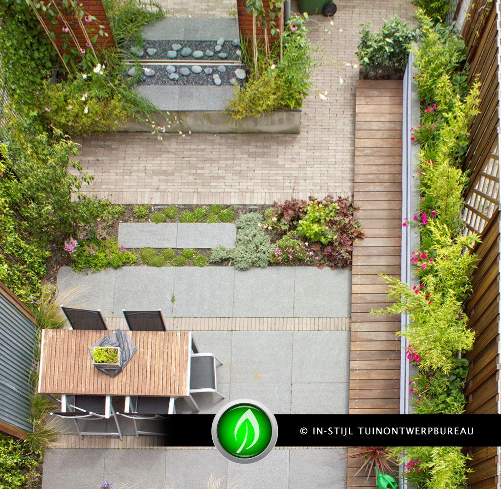 Vlonderpad hout tussen grind google zoeken oprit en terras pinterest tuin - Eigentijds pergola design ...