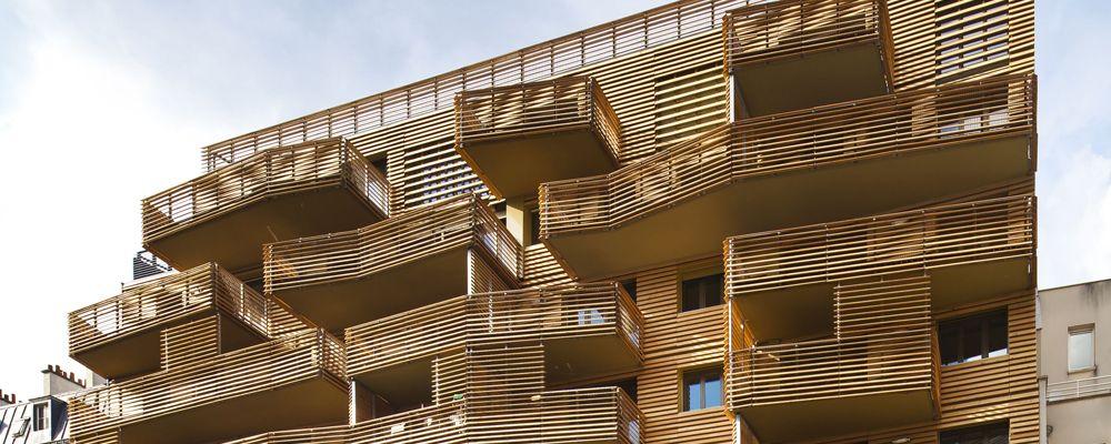 004 lamas de madera para fachadas wood slats for façades lames bois - fachada madera