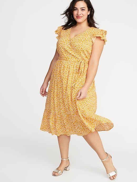 Old Navy Women\'s Tie-Belt Wrap-Front Plus-Size Maxi Dress ...