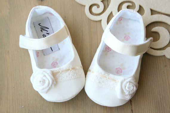812853f5f Marfil bautizo zapatos zapatos de bautismo por MartBabyAccessories ...