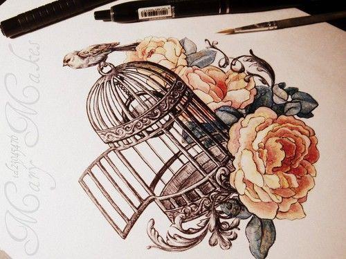 22 flower bird tattoo ideas