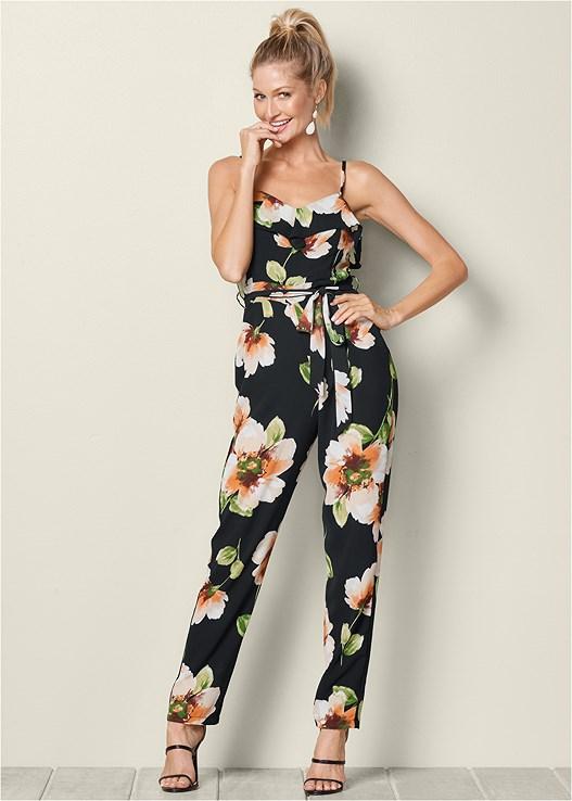 417edfcf66f7 Venus Women s Floral Print Jumpsuit Jumpsuits   Rompers