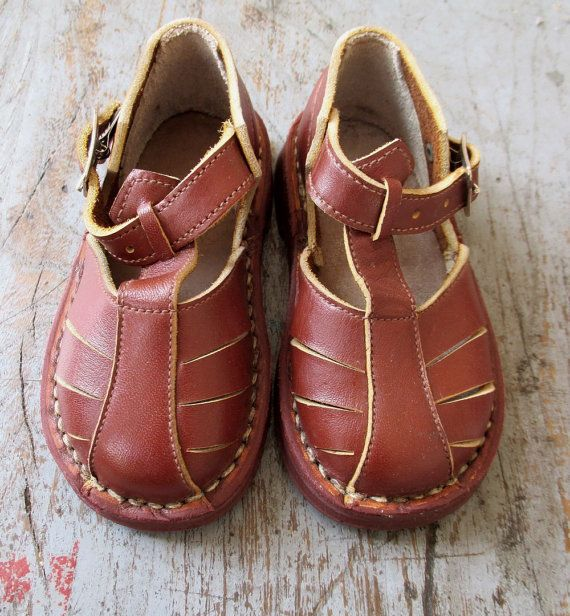 enfant mieux Acheter Authentic FRENCH VINTAGE 50's / kids / shoes / leather / made in ...