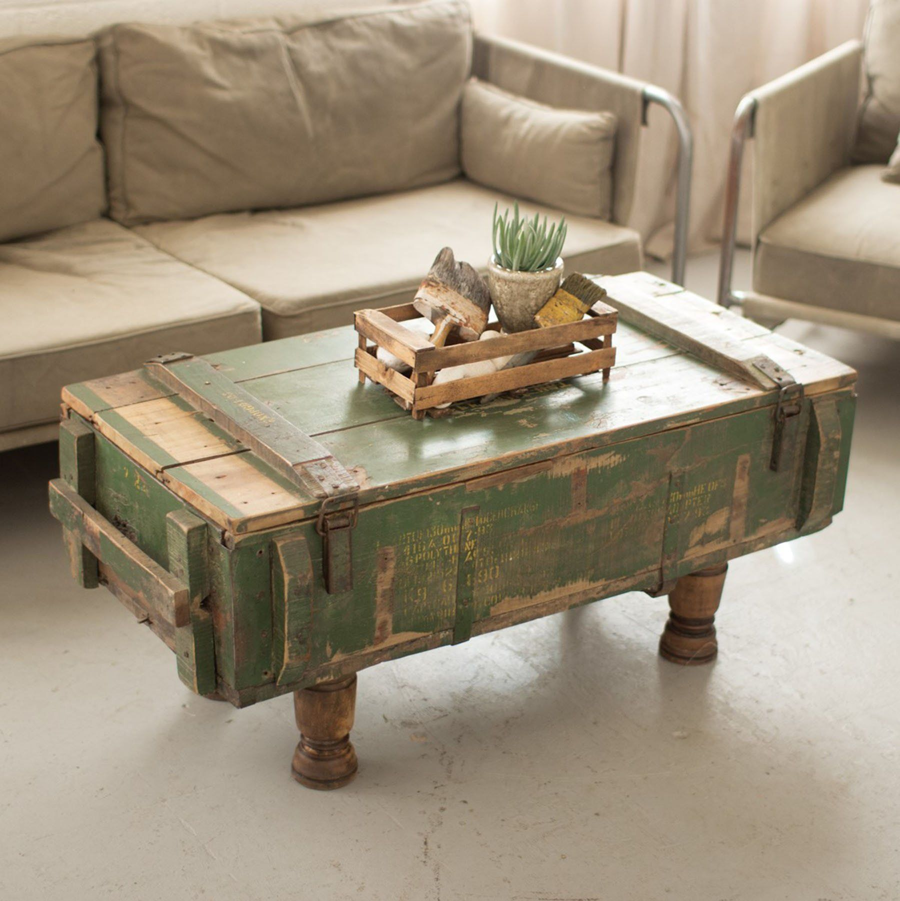 Rustic Vintage Artillery Box Coffee Table 298 00 Fill Your Home