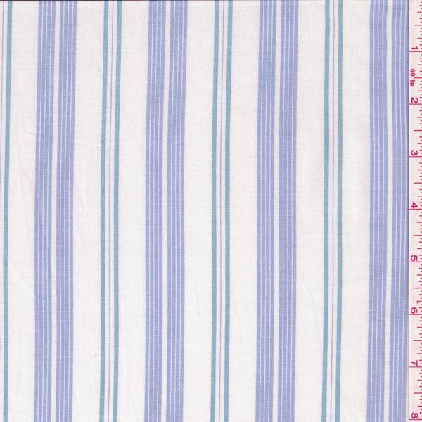 White Blue Stripe Stretch Shirting Fabric Wallpaper Pattern Wallpaper Fabric