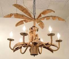Vintage tropical monkey rattan wicker chandelier mario lopez torres vintage tropical monkey rattan wicker chandelier mario lopez torres hollywood regency mid century modern tropical palm aloadofball Image collections