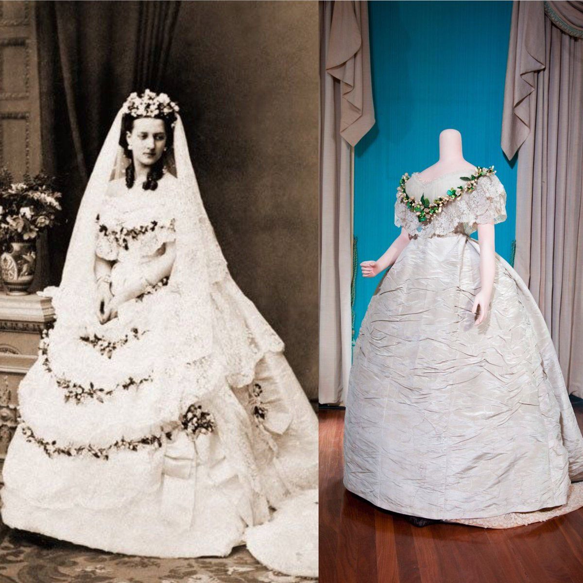 Alexandra Of Denmark's Wedding Dress, 1863. She Became The