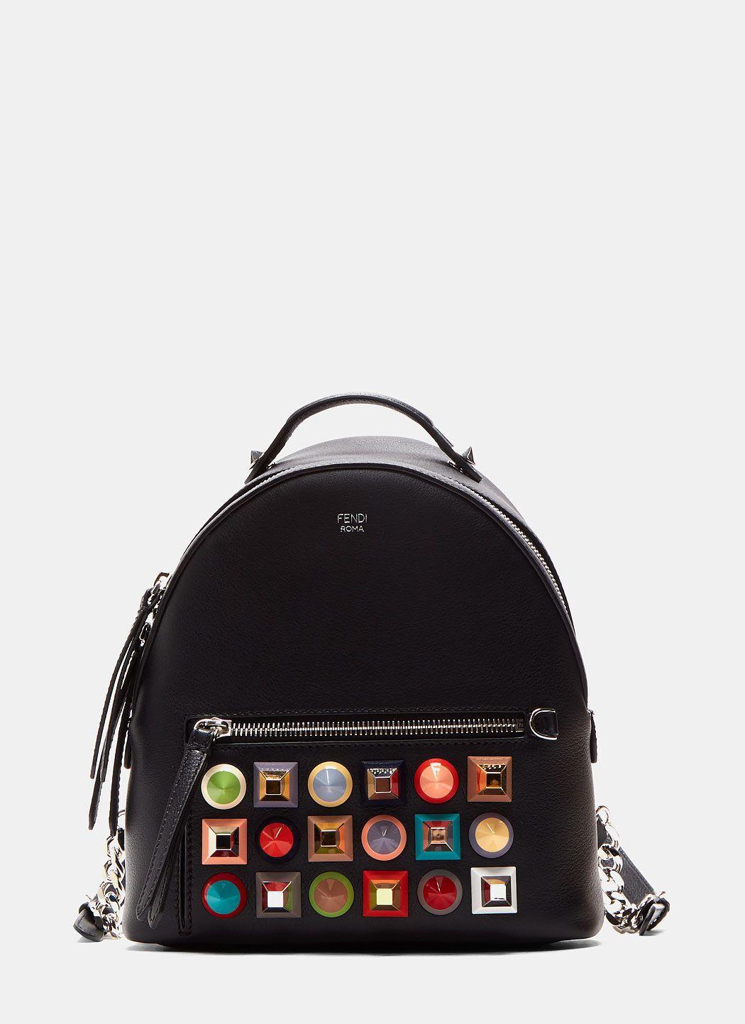 651678b81415 FENDI Women S Mini Geometric Studded Backpack In Black.  fendi  bags   leather  backpacks