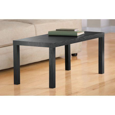 Mainstays Parsons Coffee Table Black Oak Walmart Com Coffee Table Walmart Coffee Table Sleek Coffee Table