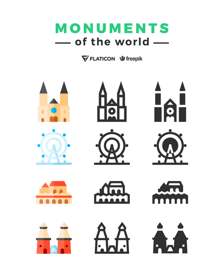 Get Traveling with the Monuments of the World Icon Freebie