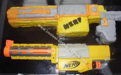 Coolest Nerf Gun Cake