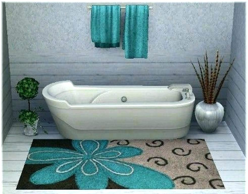 Aqua Bathroom Rugs Large