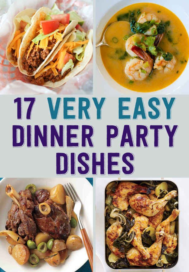 dinner party ideas menu