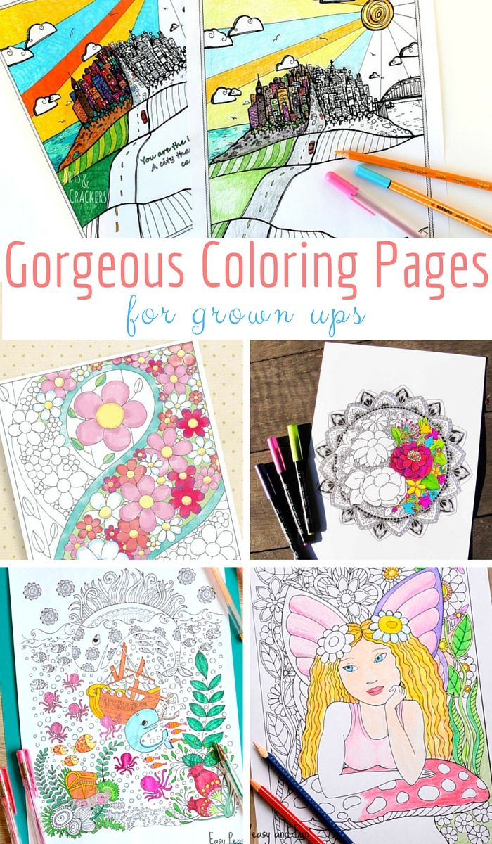 Gorgeous Coloring Pages for Grown Ups   Escolares