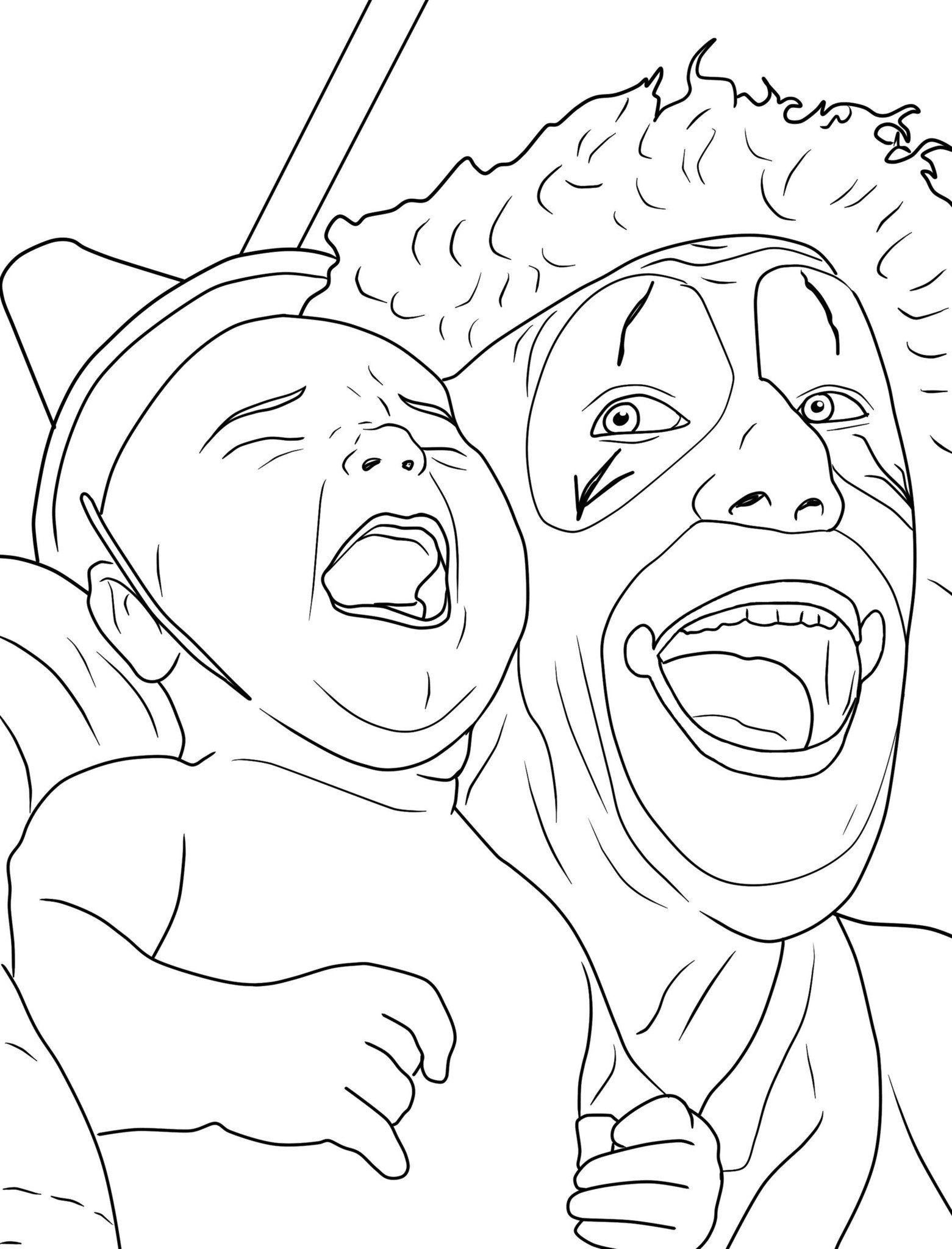 creepy clown coloring book coloring books