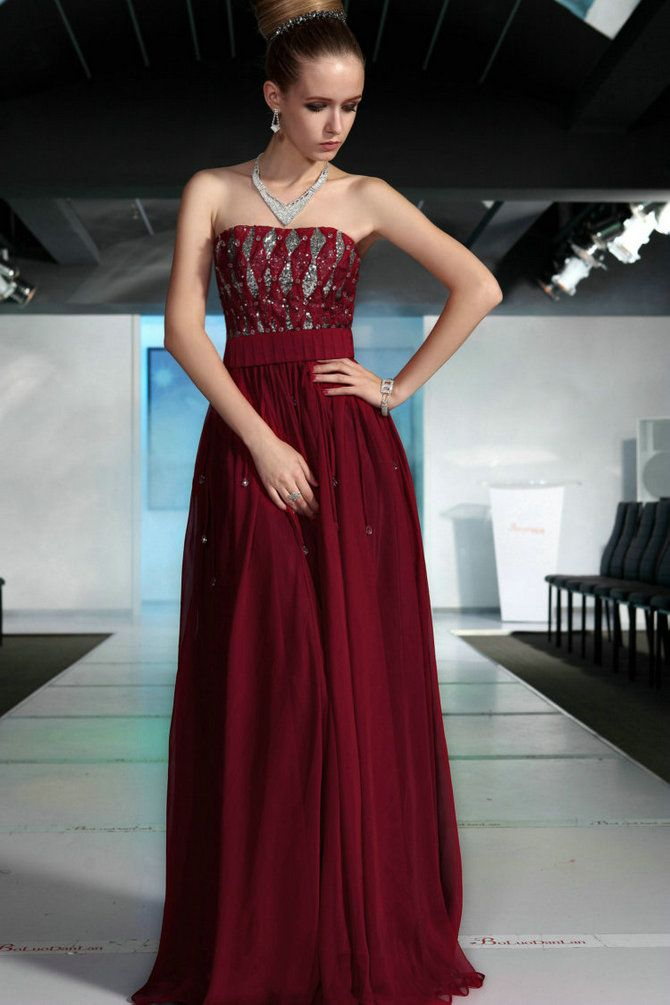Burgundy silver evening gown fashion eye candy for Silver and red wedding dresses