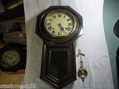Antique Meiji Eight Day Regulator Wall Clock For Parts Or Restoration Only Check Out The Pictures What You See Is What Yo Wall Clock Clock Antique Wall Clock