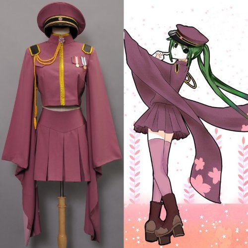 Vocaloid Hatsune Miku Senbon Sakura Kimono Dress Cosplay Costume  (Custom-Made)