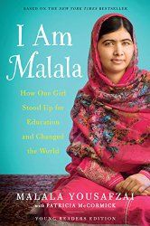 A wonderful book to share the story of Malala, the youngest winner of the Nobel Peace Prize.  She will make girls realize how fortunate they are to have an education,when girls in other countries have to fight passionately for that right.