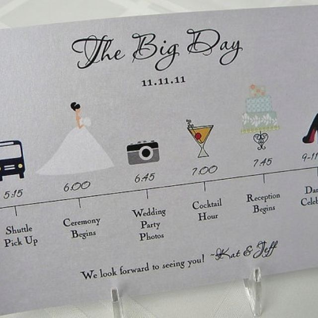 Wedding Timeline, Wedding Day