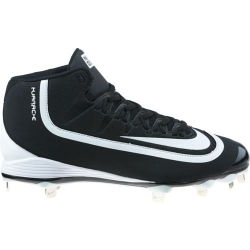 Nike Men's Huarache 2KFilth Pro Mid Baseball Cleats  (Black/White/Anthracite, Size 12) - Adult Baseball Shoes at Academy Sports