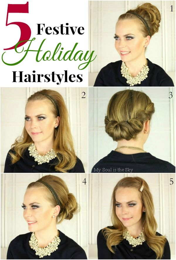 Holiday Hairstyle Ideas Beauty Tips Hair Styles Holiday