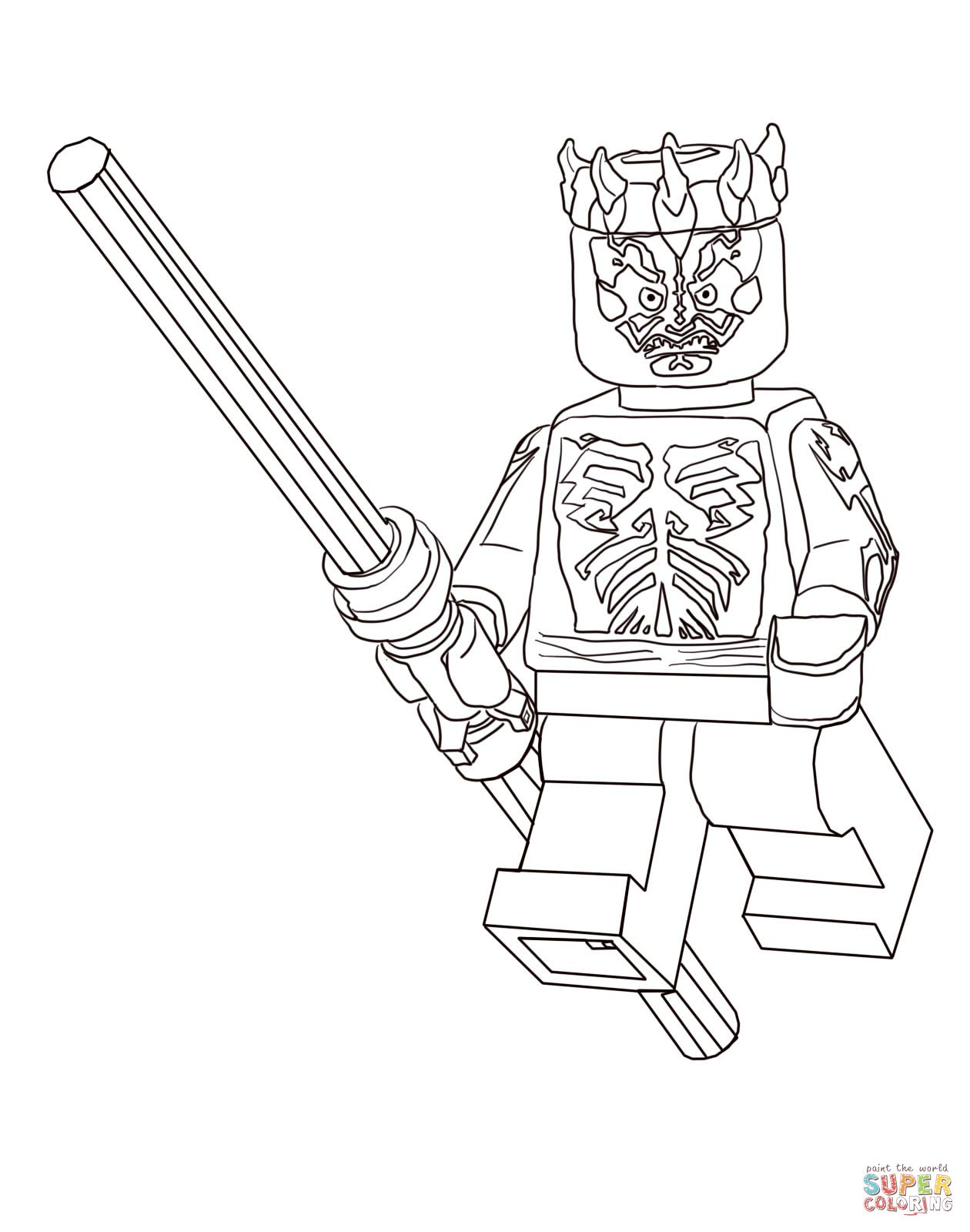 lego darth maul coloring page star wars party pinterest