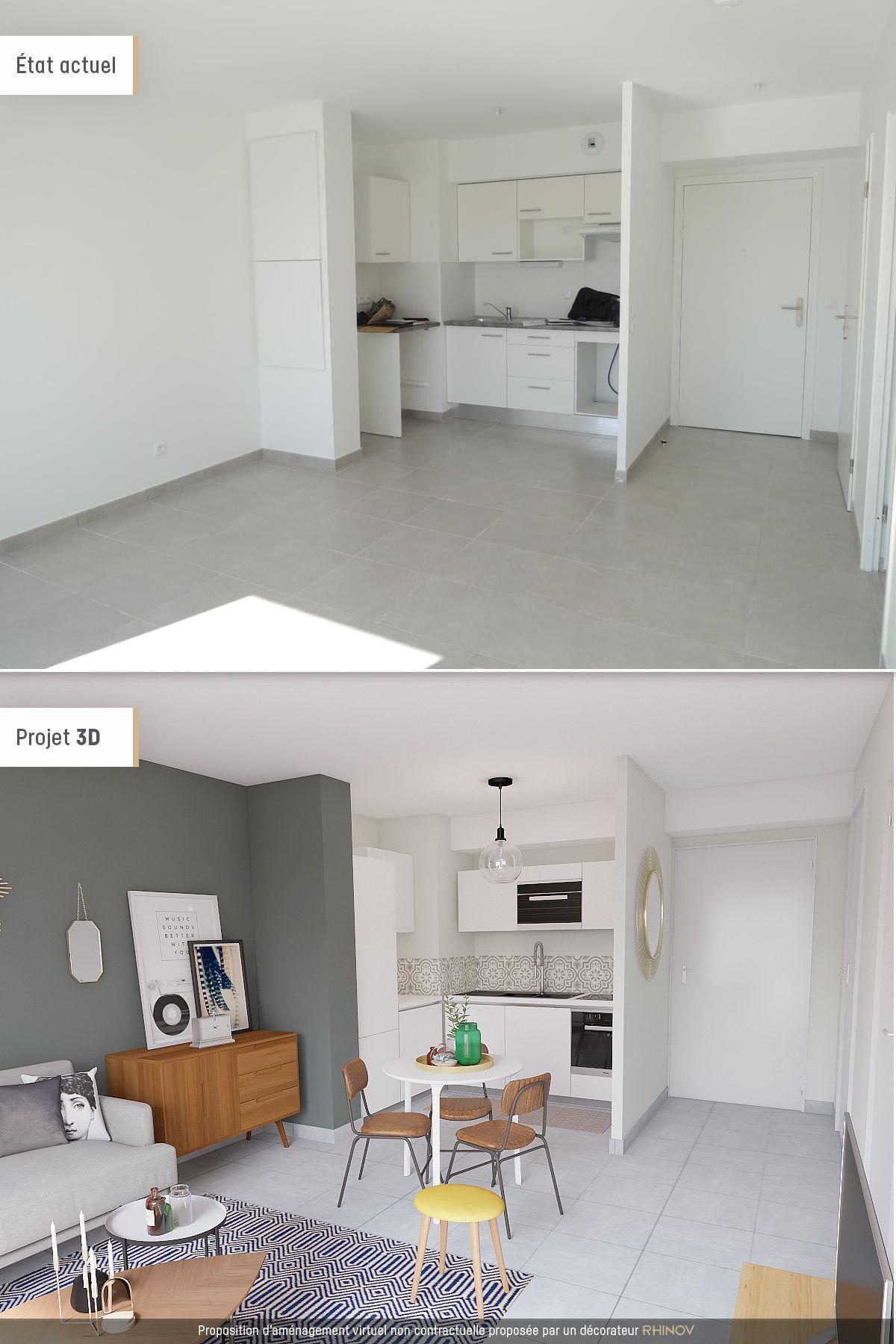 Receiving Room Interior Design: Décorer Un Bien Vide #smallapartmentlivingroom