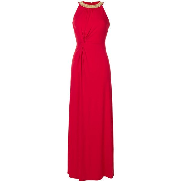 Michael Michael Kors embellished neck gown ($338) ❤ liked on ...
