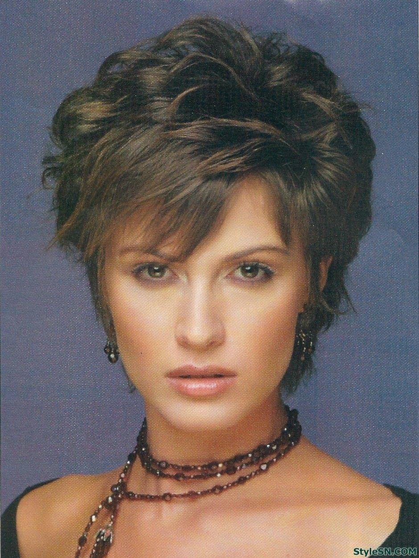 Medium layered hairstyles with bangs stylesn hairs pinterest