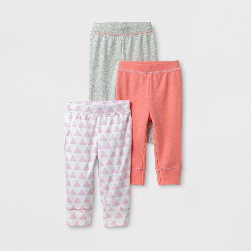 f58b715da8fd9 Baby Girls' 3pk Pants Cloud Island™ - Coral/Gray 18M | Products ...