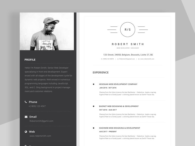 Free Unique ResumeCv Template With Stylish Design  Free Resume