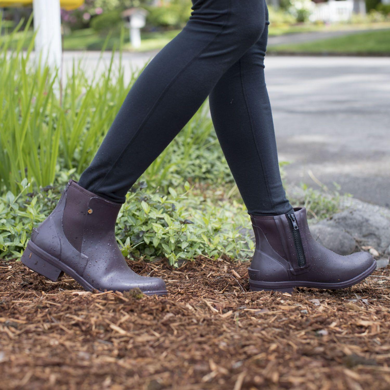 Bogs Women S Auburn Rubber Insulated Ankle Rain Boots Ankle Rain Boots Womens Rubber Boots Boots