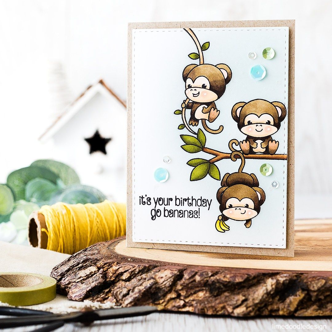 Cute Cascading Monkeys Birthday Card Find Out More By Clicking On The Following Link