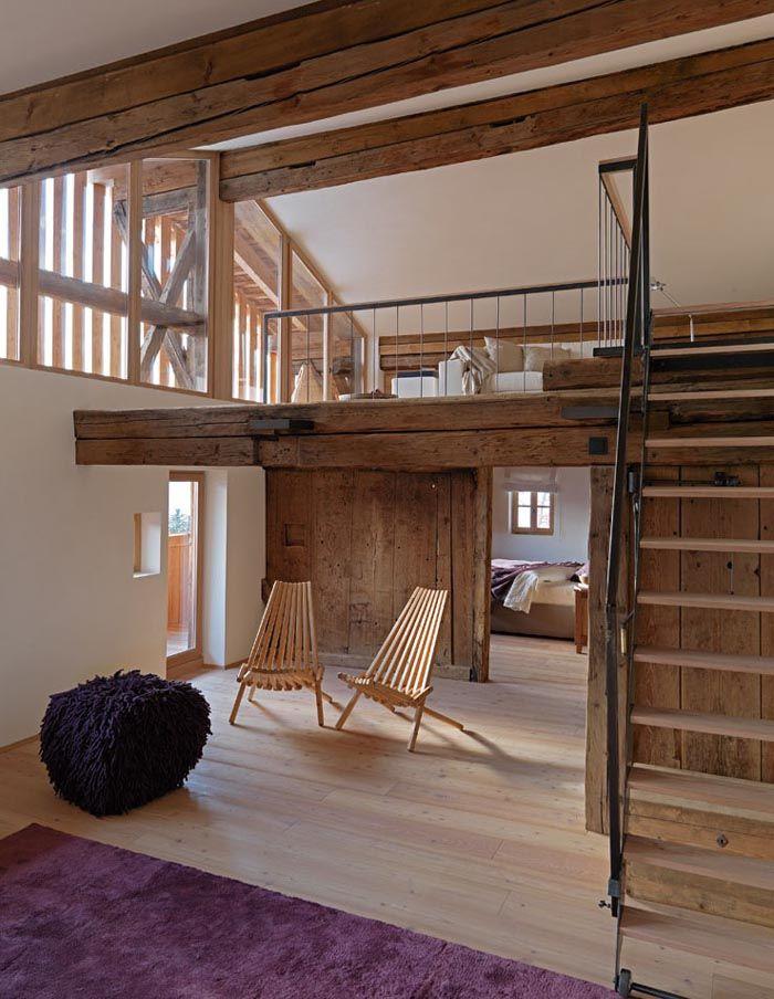 una casa rustica moderna | bancos o taburetes | Pinterest | Rusticas ...