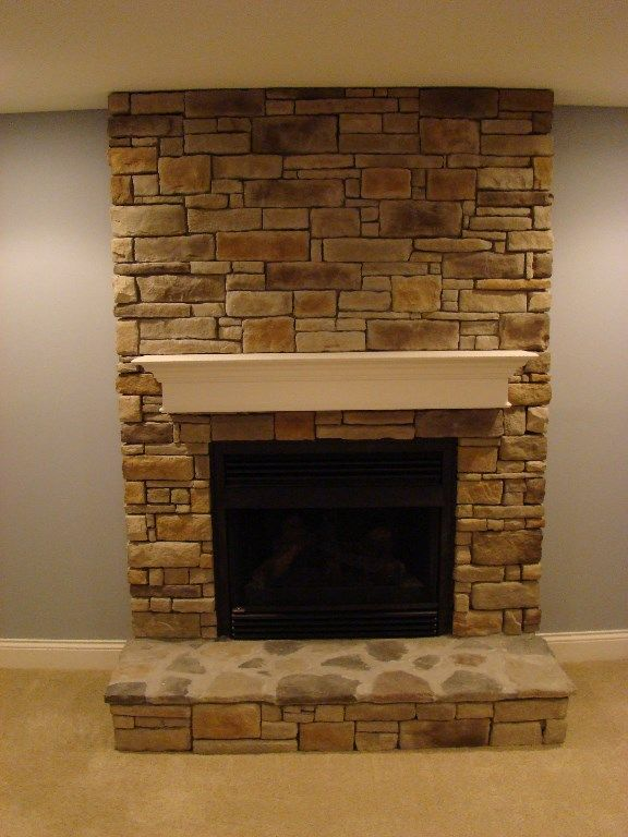 Basement Fireplace Stone Fireplace By The Finished
