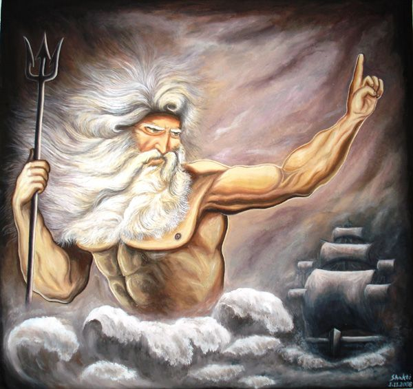 roman god of the sea neptune aka greek god poseidon